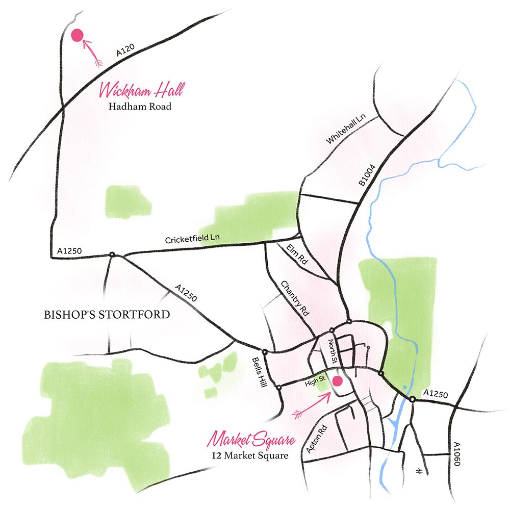 Rosey Lea Map